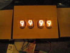Nixie chess clock